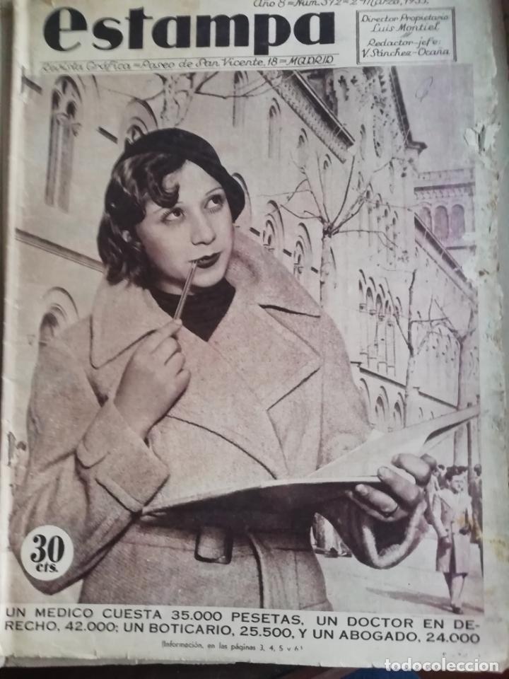 REVISTA ESTAMPA 1935 BANDIDO MONTES DE TOLEDO-ALREDEDORES DE REINOSA AGUILAR DE CAMPOO (Coleccionismo - Revistas y Periódicos Antiguos (hasta 1.939))