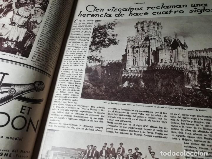 Coleccionismo de Revistas y Periódicos: revista estampa 1934 PORT DE LA SELVA -VIZCAINOS HERENCIA SEÑORIO DE BUTRON-AMPARITO TABERNER - Foto 3 - 182689927