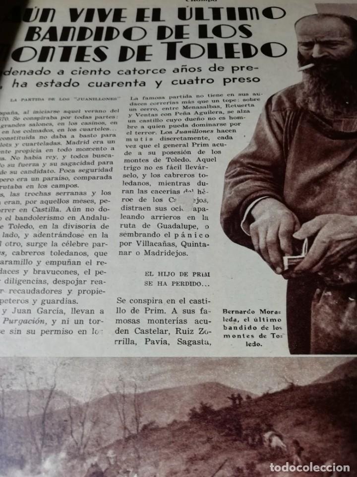 Coleccionismo de Revistas y Periódicos: revista estampa 1935 BANDIDO MONTES DE TOLEDO-ALREDEDORES DE REINOSA AGUILAR DE CAMPOO - Foto 2 - 182690981