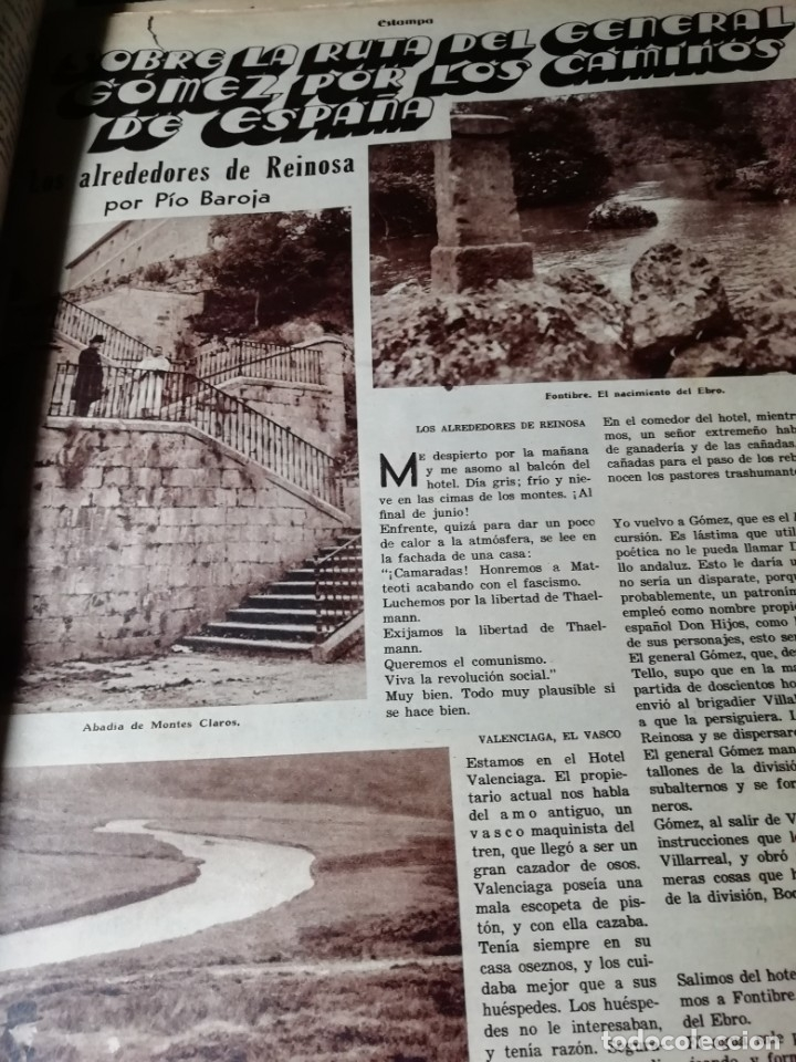 Coleccionismo de Revistas y Periódicos: revista estampa 1935 BANDIDO MONTES DE TOLEDO-ALREDEDORES DE REINOSA AGUILAR DE CAMPOO - Foto 3 - 182690981
