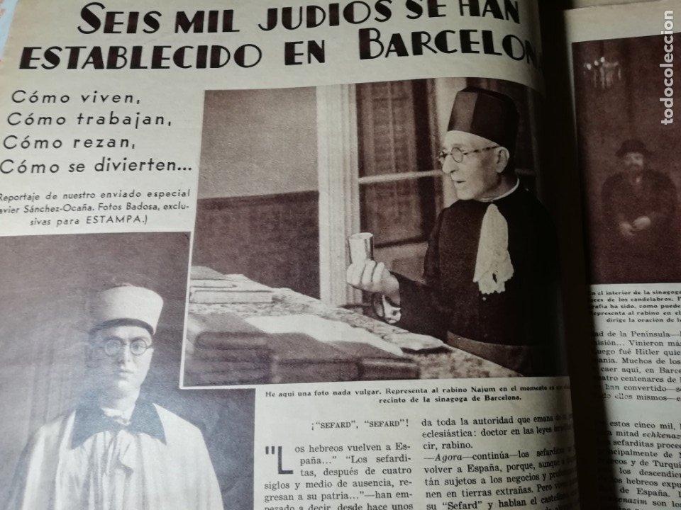 Coleccionismo de Revistas y Periódicos: revista estampa 1935 JUDIOS EN BARCELONA-LAVANDERA ZORITA(CACERES)-OLETZARO-MANTONES - Foto 2 - 182701323