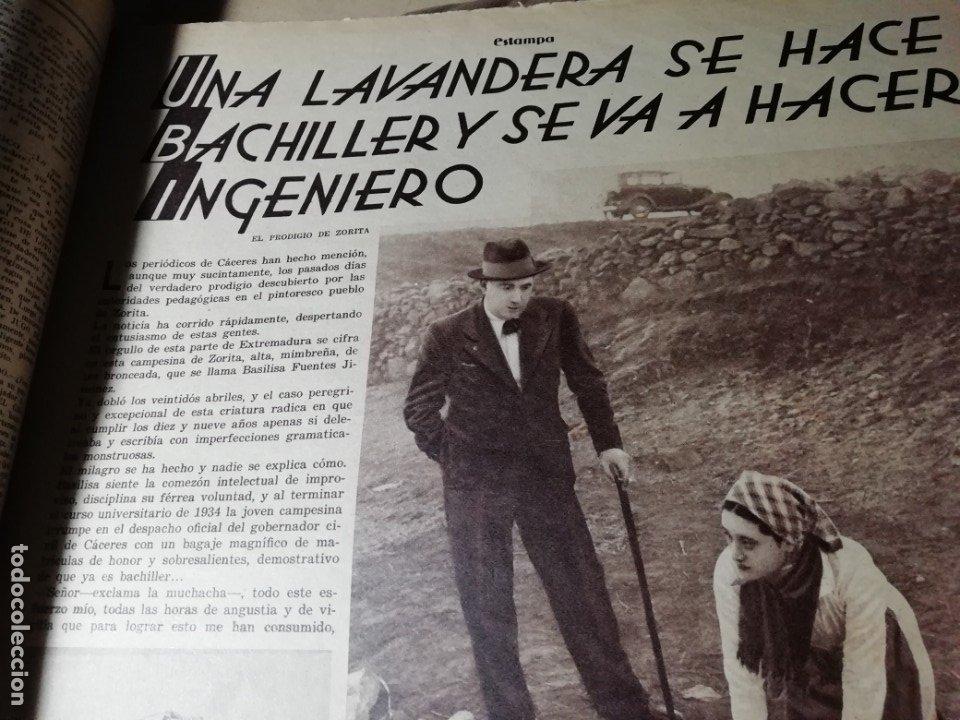 Coleccionismo de Revistas y Periódicos: revista estampa 1935 JUDIOS EN BARCELONA-LAVANDERA ZORITA(CACERES)-OLETZARO-MANTONES - Foto 3 - 182701323