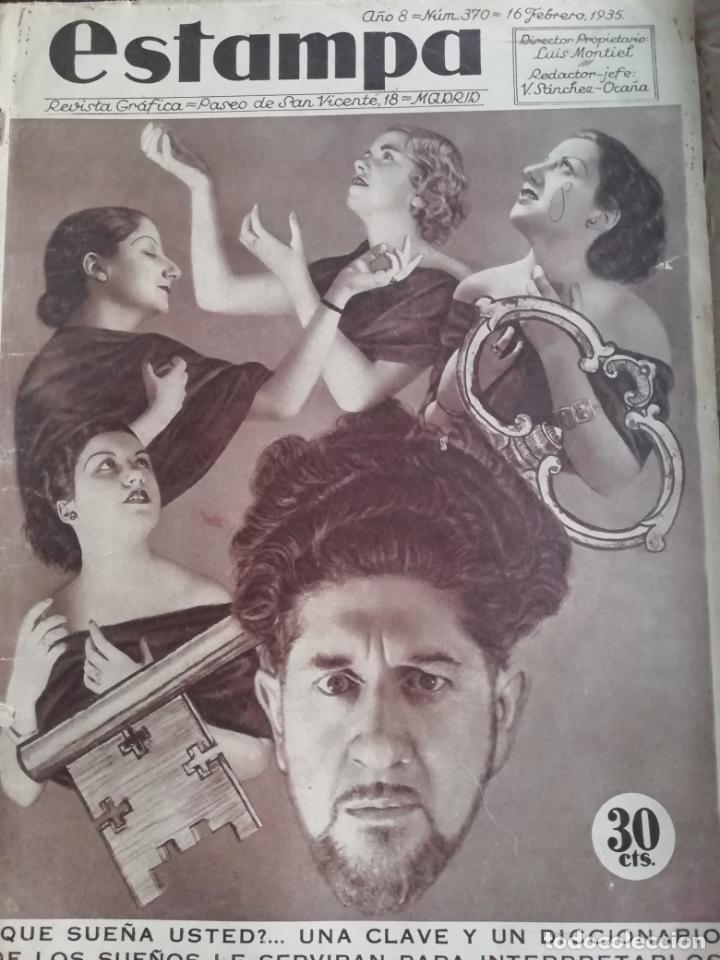 REVISTA ESTAMPA 1935 JUDIOS EN BARCELONA-LAVANDERA ZORITA(CACERES)-OLETZARO-MANTONES (Coleccionismo - Revistas y Periódicos Antiguos (hasta 1.939))