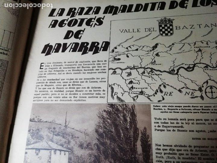 Coleccionismo de Revistas y Periódicos: revista estampa 1935 RAZA AGOTES NAVARRA VALLE BAZTAN-CASTILLOS EXTREMADURA-RUTA GENERAL GOMEZ - Foto 2 - 182702702