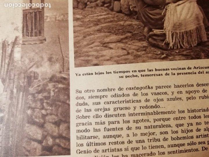 Coleccionismo de Revistas y Periódicos: revista estampa 1935 RAZA AGOTES NAVARRA VALLE BAZTAN-CASTILLOS EXTREMADURA-RUTA GENERAL GOMEZ - Foto 3 - 182702702