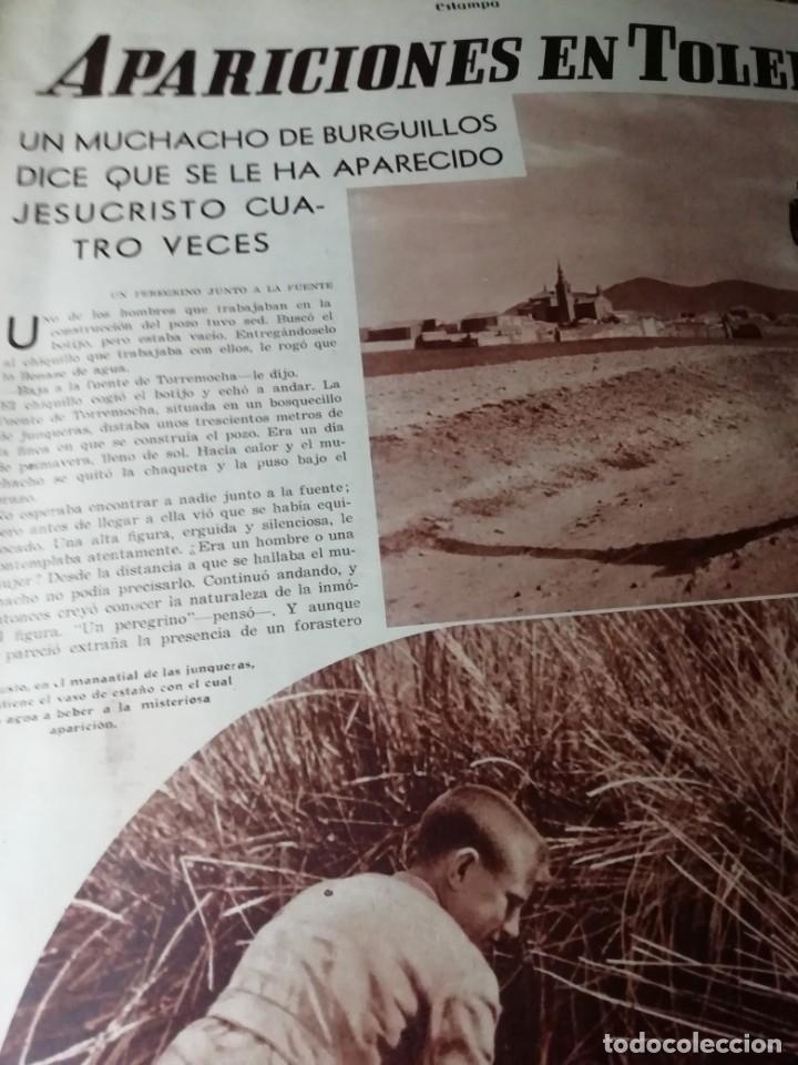 Coleccionismo de Revistas y Periódicos: revista estampa 1935 APARICIONES EN TOLEDO(BURGUILLOS)-CRIADA DE SANTO DOMINGO DE LA CALZADA(RIOJA) - Foto 2 - 182709330