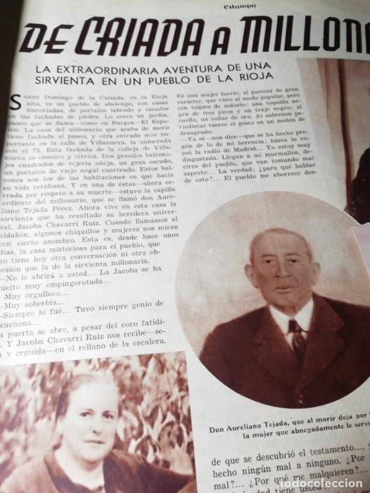 Coleccionismo de Revistas y Periódicos: revista estampa 1935 APARICIONES EN TOLEDO(BURGUILLOS)-CRIADA DE SANTO DOMINGO DE LA CALZADA(RIOJA) - Foto 3 - 182709330