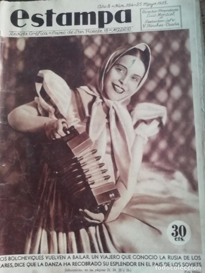 REVISTA ESTAMPA 1935 APARICIONES EN TOLEDO(BURGUILLOS)-CRIADA DE SANTO DOMINGO DE LA CALZADA(RIOJA) (Coleccionismo - Revistas y Periódicos Antiguos (hasta 1.939))