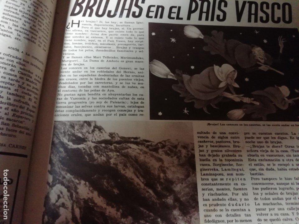 Coleccionismo de Revistas y Periódicos: revista estampa 1935 LA VAQUILLA DE SAN SEBASTIAN -BRUJAS EN EL PAIS VASCO(ATAUN)-NITA GUERRI - Foto 3 - 182710667