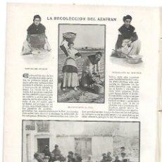 Coleccionismo de Revistas y Periódicos: AÑO 1905 MONASTERIO UCLES CUENCA RECOLECCION AZAFRAN CONSTANTINOPLA CALLE MONTERA MADRID AZORIN. Lote 182715962