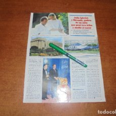Coleccionismo de Revistas y Periódicos: CLIPPING 1997: JULIO IGLESIAS Y MIRANDA, PADRES. CLAUDIA CARDINALE. ANTONIA DELL'ATTE. SHARON STONE.. Lote 182814440