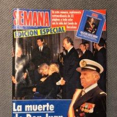 Coleccionismo de Revistas y Periódicos: REVISTA: SEMANA. EDICIÓN ESPECIAL. LA MUERTE DE DON JUAN. NO.2774, (14 DE ABRIL DE 1993). Lote 182817768
