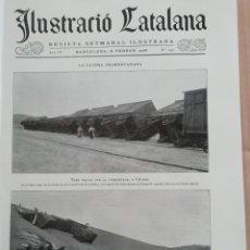 Coleccionismo de Revistas y Periódicos: ILUSTRACIÓ CATALANA Nº142 1906 FOTOS MEETING SOLIDARITAT CATALANA A GIRONA . Lote 182853640