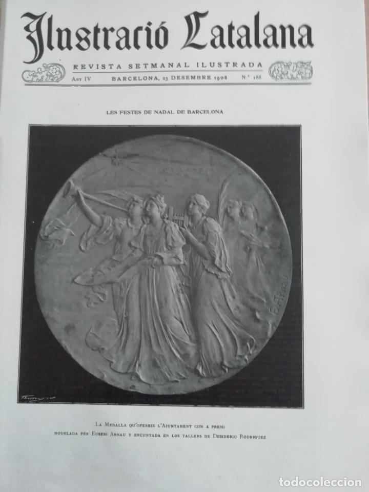 ILUSTRACIÓ CATALANA Nº186 1906 FOTOS LOS PESSEBRES AMADEU OLOT (Coleccionismo - Revistas y Periódicos Antiguos (hasta 1.939))