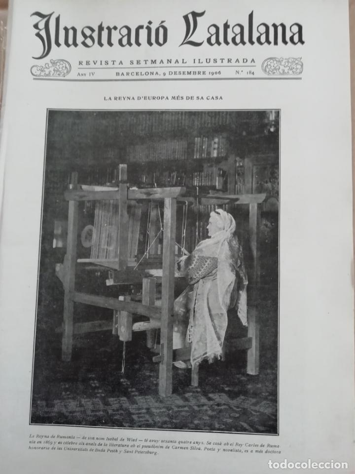 ILUSTRACIÓ CATALANA Nº185 1906 FOTOS TAULES I CAPITELLS DE SANT SADURNI DE TAVERNOLES (Coleccionismo - Revistas y Periódicos Antiguos (hasta 1.939))