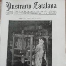 Coleccionismo de Revistas y Periódicos: ILUSTRACIÓ CATALANA Nº185 1906 FOTOS TAULES I CAPITELLS DE SANT SADURNI DE TAVERNOLES . Lote 182855195