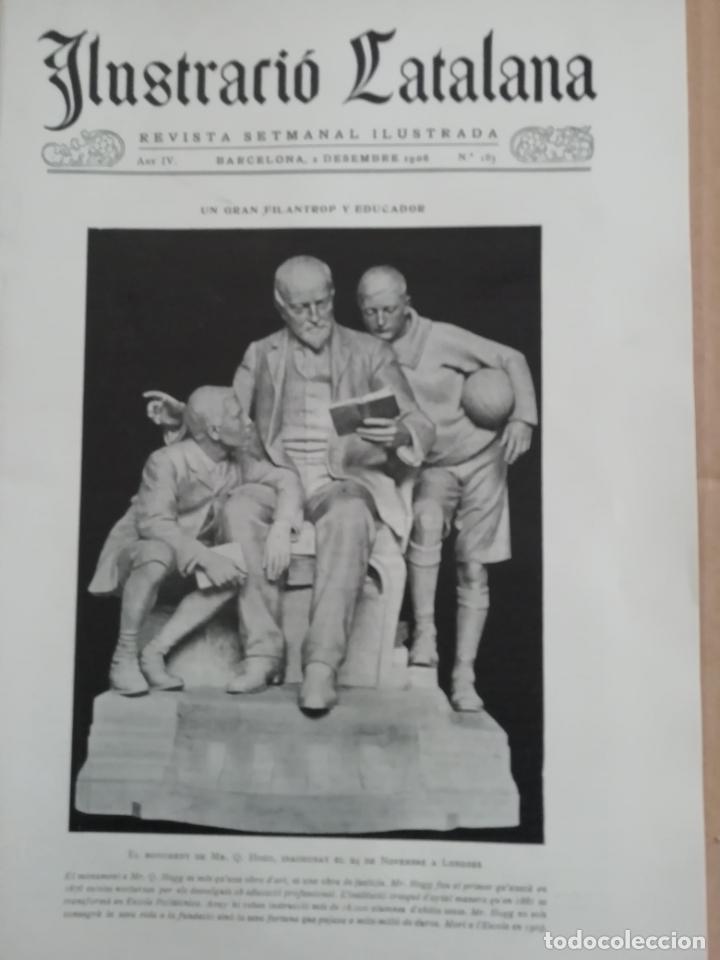 ILUSTRACIÓ CATALANA Nº183 1906 FOTOS ESGLESIA SANT MARTI SARROCA (Coleccionismo - Revistas y Periódicos Antiguos (hasta 1.939))