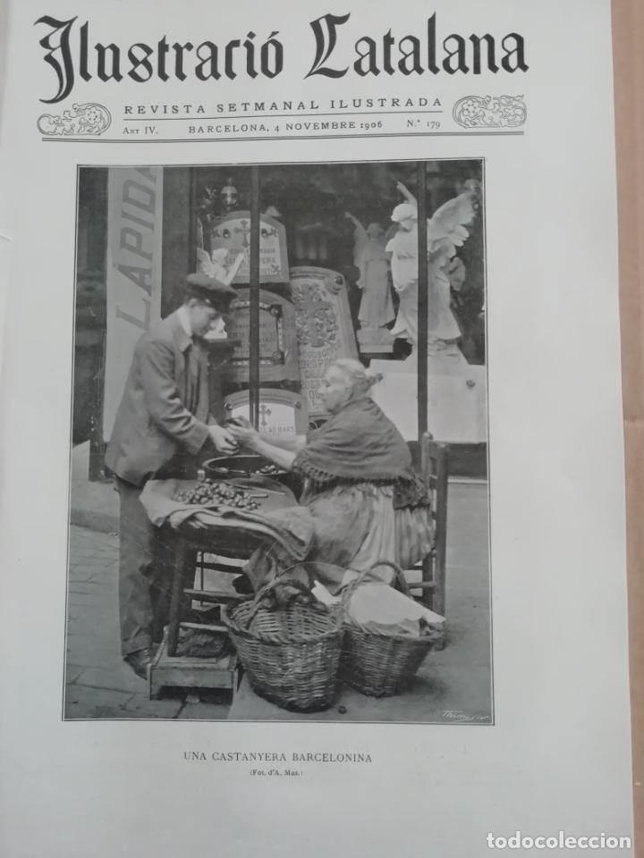 ILUSTRACIÓ CATALANA Nº179 1906 FOTOS RIUDOMS (TARRAGONA) (Coleccionismo - Revistas y Periódicos Antiguos (hasta 1.939))