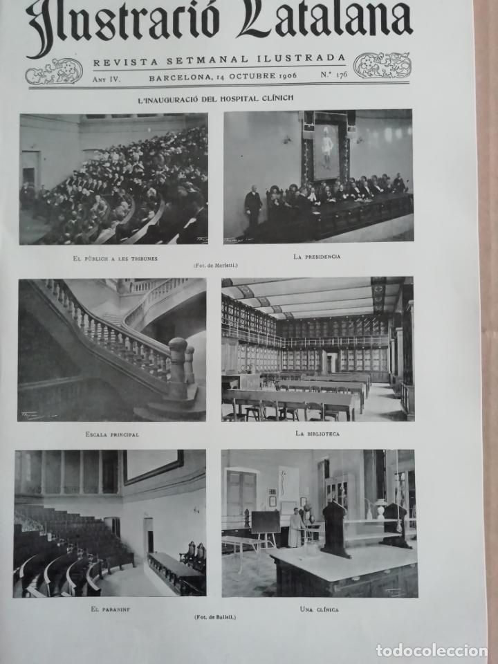 ILUSTRACIÓ CATALANA Nº176 1906 FOTOS TORRE PUIG I CADAFALCH ARGENTONA (Coleccionismo - Revistas y Periódicos Antiguos (hasta 1.939))