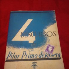 Coleccionismo de Revistas y Periódicos: REVISTA FALANGE DISCURSOS DE PILAR PRIMO DE RIVERA 1939 CON SELLO DE JOSE ANTONIO. Lote 182903196
