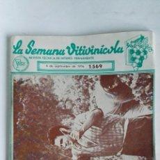 Coleccionismo de Revistas y Periódicos: REVISTA LA SEMANA VITIVINICOLA 1976. Lote 182980682