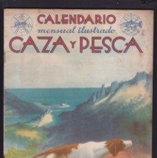 Coleccionismo de Revistas y Periódicos: CALENDARIO MENSUAL ILUSTRADO * CAZA Y PESCA * ARMAS Y GUARDERIA - Nº 61 / ENERO 1948 - ILUSTRADA. Lote 183015065