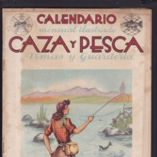 Coleccionismo de Revistas y Periódicos: CALENDARIO MENSUAL ILUSTRADO * CAZA Y PESCA * ARMAS Y GUARDERIA - Nº 44 / AGOSTO 1946 - ILUSTRADA. Lote 183015142