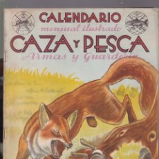 Coleccionismo de Revistas y Periódicos: CALENDARIO MENSUAL ILUSTRADO * CAZA Y PESCA * ARMAS Y GUARDERIA - Nº 50 / FEBRERO 1947 - ILUSTRADA. Lote 183015226