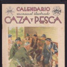 Coleccionismo de Revistas y Periódicos: CALENDARIO MENSUAL ILUSTRADO * CAZA Y PESCA * ARMAS Y GUARDERIA - Nº 68 / AGOSTO 1948 - ILUSTRADA. Lote 183015313