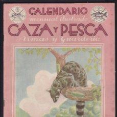 Coleccionismo de Revistas y Periódicos: CALENDARIO MENSUAL ILUSTRADO * CAZA Y PESCA * ARMAS Y GUARDERIA - Nº 35 / NOVIEMBRE 1945 - ILUSTRADA. Lote 183015413