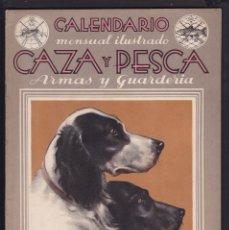 Coleccionismo de Revistas y Periódicos: CALENDARIO MENSUAL ILUSTRADO * CAZA Y PESCA* ARMAS Y GUARDERIA - Nº 33 / SEPTIEMBRE 1945 - ILUSTRADA. Lote 183016875