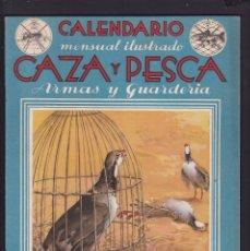 Coleccionismo de Revistas y Periódicos: CALENDARIO MENSUAL ILUSTRADO * CAZA Y PESCA * ARMAS Y GUARDERIA - Nº 52 / ABRIL 1947 - ILUSTRADA. Lote 183017050