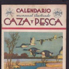 Coleccionismo de Revistas y Periódicos: CALENDARIO MENSUAL ILUSTRADO * CAZA Y PESCA * ARMAS Y GUARDERIA - Nº 63 / MARZO 1948 - ILUSTRADA. Lote 183017121