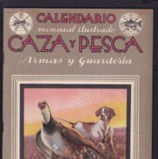 Coleccionismo de Revistas y Periódicos: CALENDARIO MENSUAL ILUSTRADO * CAZA Y PESCA * ARMAS Y GUARDERIA - Nº 38 / FEBERERO 1946 - ILUSTRADA. Lote 183017182