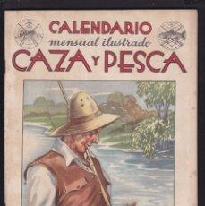 Coleccionismo de Revistas y Periódicos: CALENDARIO MENSUAL ILUSTRADO * CAZA Y PESCA * ARMAS Y GUARDERIA - Nº 64 / ABRIL 1948 - ILUSTRADA. Lote 183017271