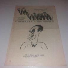 Coleccionismo de Revistas y Periódicos: DON CRISPÍN, SEMANARIO SATÍRICO DE MURCIA. 1932, 12 SEPTIEMBRE, Nº38, 2ª ÉPOCA. Lote 183031580