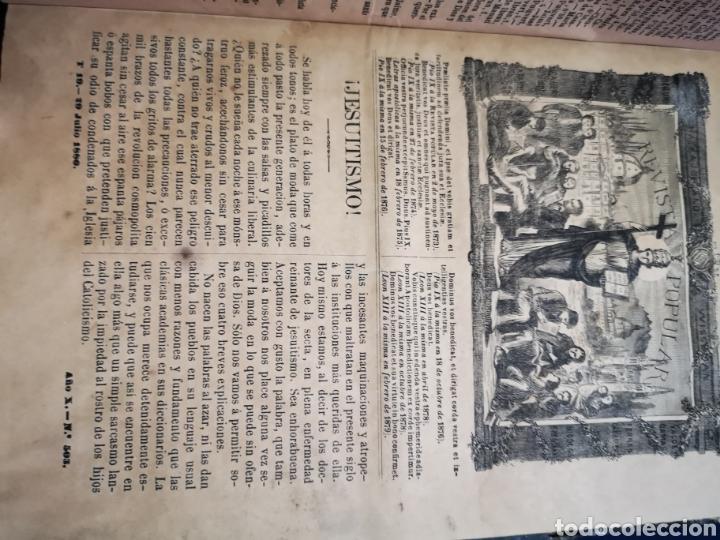 Coleccionismo de Revistas y Periódicos: Revista popular 1880 - 1881, números del 499 al 551. muy difícil! - Foto 2 - 183042157