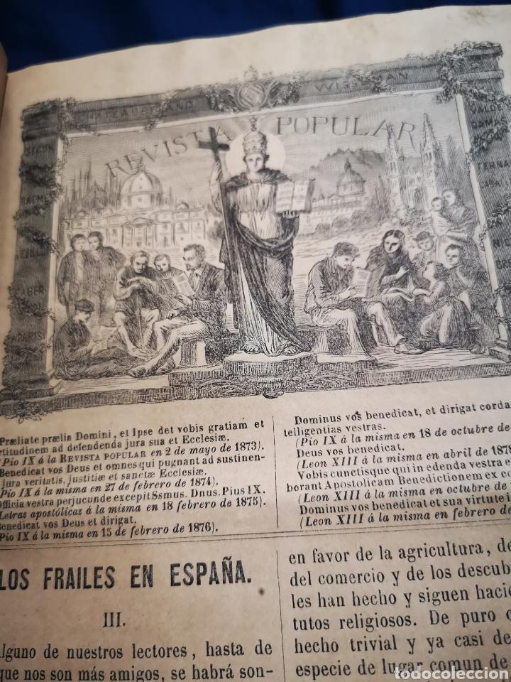 Coleccionismo de Revistas y Periódicos: Revista popular 1880 - 1881, números del 499 al 551. muy difícil! - Foto 4 - 183042157