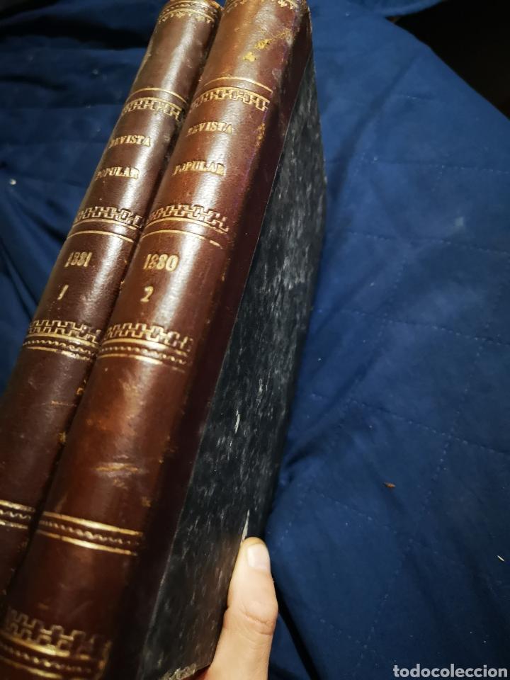 Coleccionismo de Revistas y Periódicos: Revista popular 1880 - 1881, números del 499 al 551. muy difícil! - Foto 5 - 183042157