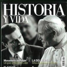 Coleccionismo de Revistas y Periódicos: HISTORIA Y VIDA Nº 555-556-558-559. LOTE DE 4 NÚMEROS.. Lote 183060305