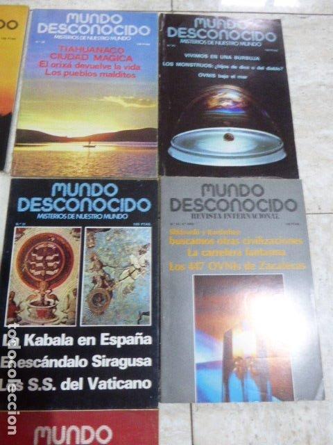 Coleccionismo de Revistas y Periódicos: LOTE DE 7 REVISTAS DE MUNDO DESCONOCIDO. Nº 25 - 28 - 29 - 30 - 31 - 42 Y 45. - Foto 2 - 183066706