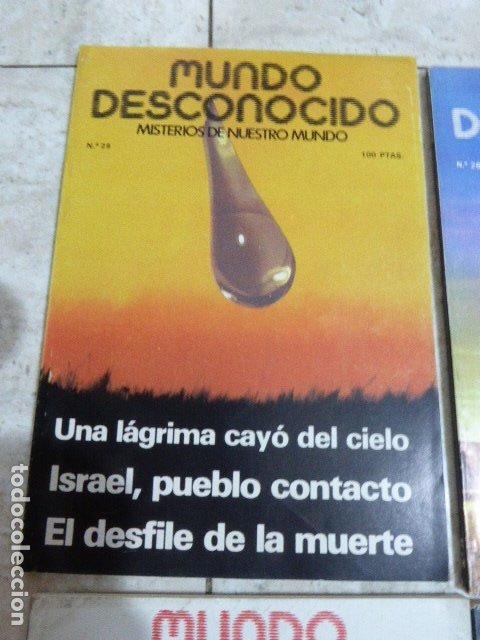 Coleccionismo de Revistas y Periódicos: LOTE DE 7 REVISTAS DE MUNDO DESCONOCIDO. Nº 25 - 28 - 29 - 30 - 31 - 42 Y 45. - Foto 3 - 183066706