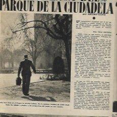 Coleccionismo de Revistas y Periódicos: AÑO 1949 BARCELONA HOTEL COLON PARQUE LA CIUTADELLA MONASTERIO DE VILABERTRAN MANRESA ARTE NUEVO. Lote 10866733