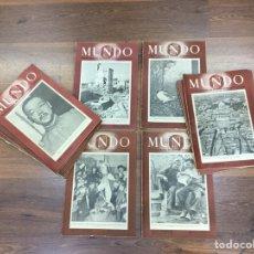 Coleccionismo de Revistas y Periódicos: MUNDO REVISTA SEMANAL DE POLÍTICA EXTERIOR Y ECONOMÍA AÑOS 40- LOTE 16 UNIDADES. Lote 183180806