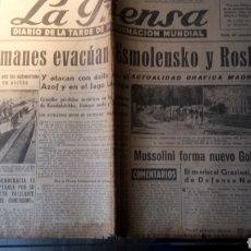 Coleccionismo de Revistas y Periódicos: EJEMPLAR DE LA PRENSA. DIARIO DE LA TARDE DE INFORMACIÓN MUNDIAL. 25 SEPTIEMBRE DE 1943.. Lote 183283687
