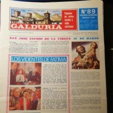 Coleccionismo de Revistas y Periódicos: GALDURIA. PÁGINAS DE ORIENTACIÓN Y VIDA CRISTIANA. Lote 183329005