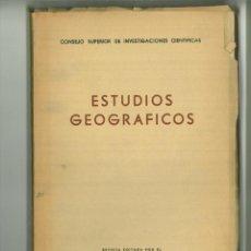 Coleccionismo de Revistas y Periódicos: ESTUDIOS GEOGRÁFICOS NÚMERO 46 FEBRERO 1952 AÑO XIII. Lote 183368643