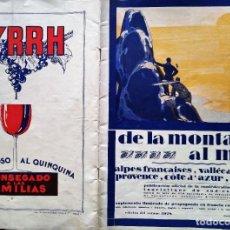 Coleccionismo de Revistas y Periódicos: DE LA MONTAÑA AL MAR ALPES FRANCAISES VALLEE DU RHONE PROVENCE COTE D AZUR CORSE. Lote 183472097