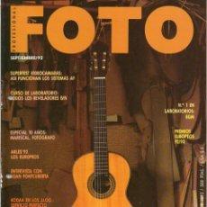 Coleccionismo de Revistas y Periódicos: REVISTA FOTO PROFESIONAL - Nº 117 - SEPTIEMBRE DE 1992 - TALADRADA - (VER SUMARIO EN FOTO ADJUNTA). Lote 183491566