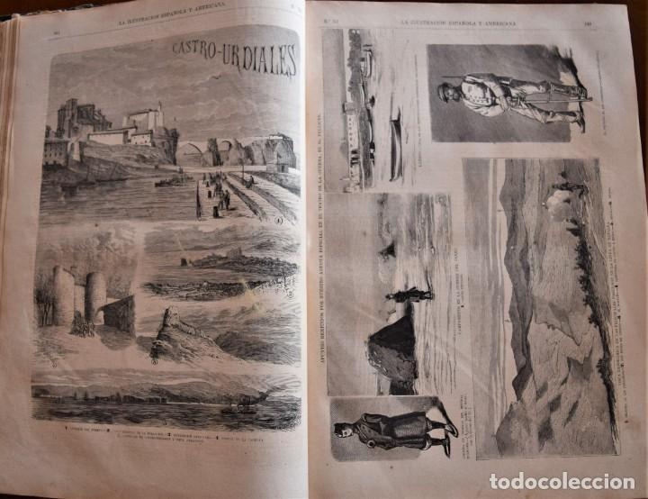 Coleccionismo de Revistas y Periódicos: TOMO LA ILUSTRACIÓN ESPAÑOLA Y AMERICANA AÑO COMPLETO 1874 - TERCERA GUERRA CARLISTA, SITIO BILBAO - Foto 10 - 183513931